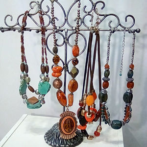 Lot of 4 chunky beaded necklaces, unbranded